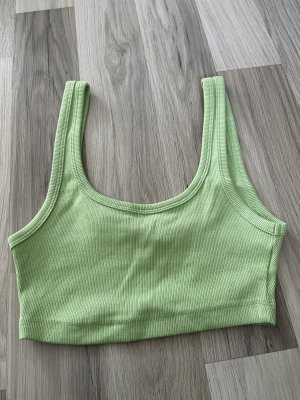 Zara Trafaluc Top corto verde pallido