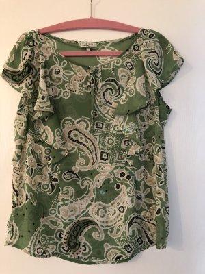 Grüngemusterte Bluse von Tom Tailor