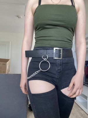 Asos Hip Belt black-silver-colored