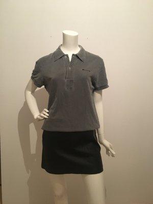Gstar g-Star Polo Poloshirt Shirt Kragen Knöpfe Piqué grau faded washed out unisex lässig weit s small 36