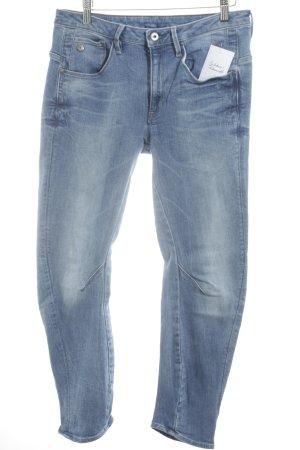 Gstar Low Rise jeans staalblauw straat-mode uitstraling