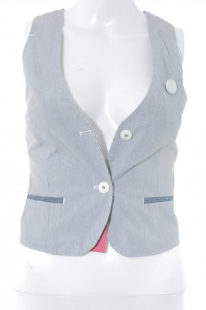 Gstar Denim Vest white-dark blue pinstripe business style