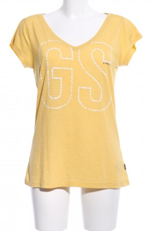 Gstar Print-Shirt Schriftzug gedruckt Casual-Look