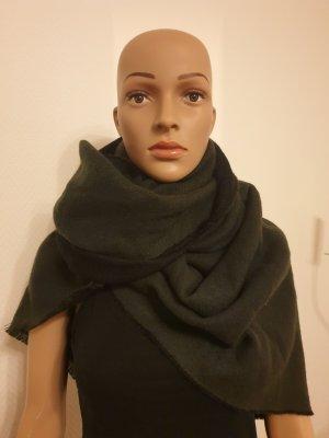 Gstar Sjaal met franjes zwart-donkergroen