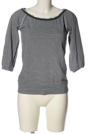 Gstar Schlupf-Bluse schwarz-weiß Allover-Druck Casual-Look