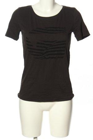 Gstar T-Shirt braun-schwarz Streifenmuster Casual-Look