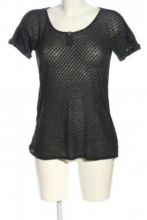 Gstar T-Shirt schwarz Allover-Druck Elegant