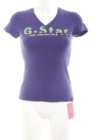 Gstar T-Shirt lila Casual-Look