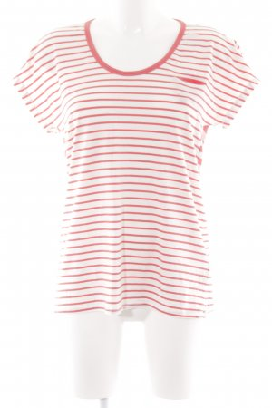 Gstar T-Shirt wollweiß-rot Streifenmuster Casual-Look