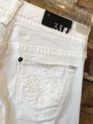 Gstar weiße Jeans w25 L32 XS Core Slim Midnight Skinny Stretch g-star