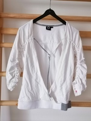 Gsus V-Neck Sweater white-grey