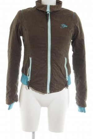 Gsus Jacket turquoise-brown athletic style