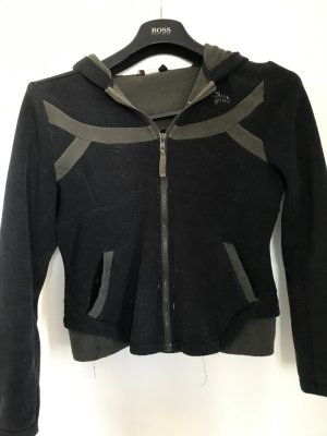 Gsus Hoody black-silver-colored polyester
