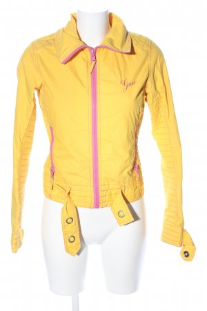 Gsus Outdoorjacke blassgelb-pink Casual-Look