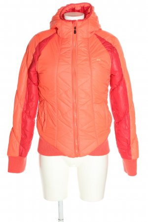 Gsus Quilted Jacket light orange-red quilting pattern casual look