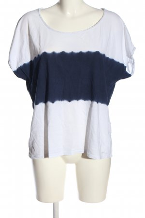 Gsus T-Shirt white-blue themed print casual look