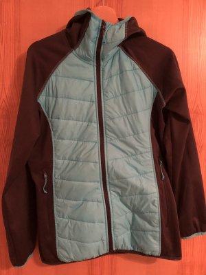 GTS Kurtka outdoor antracyt-jasnoniebieski