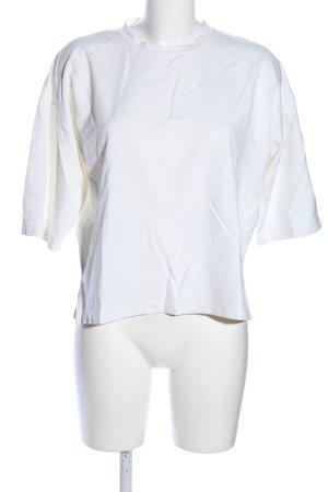 Top extra-large blanc style décontracté