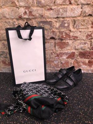 Gucci 121830 GG Monogram Damen Low-Top Sneakers EU 36 schwarz