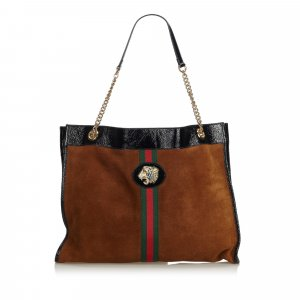 Gucci Tote brown suede
