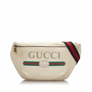 Gucci Riñonera blanco Cuero