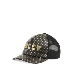 Gucci 2018 Logo Leather Baseball Cap