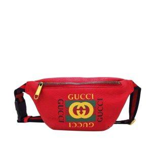 Gucci Riñonera rojo Cuero