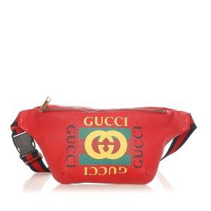 Gucci Nerka czerwony Skóra