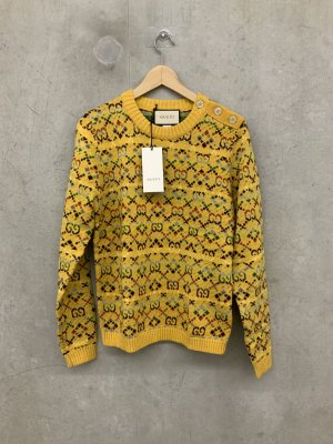 Gucci Long Sweater dark yellow mixture fibre