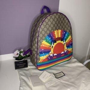 Gucci Kindergarden Backpack natural white-dark violet