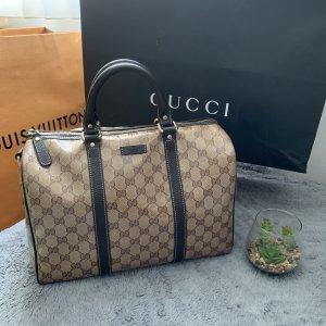 Gucci Sac à main brun foncé-beige