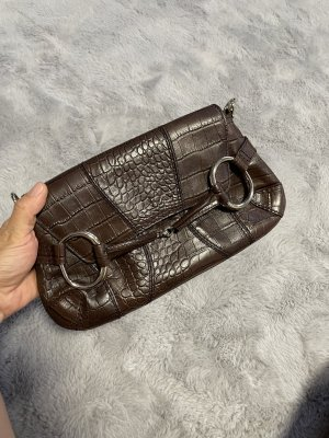 Gucci Handtas donkerbruin-zwart bruin