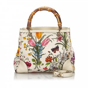 Gucci 50th Anniversary Bamboo Flora Satchel