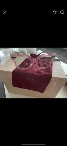Gucci Hoekige zonnebril roségoud