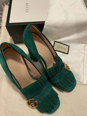 Gucci Pumps met sleehak groen