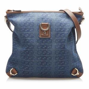 Gucci Abbey D-Ring Denim Crossbody Bag