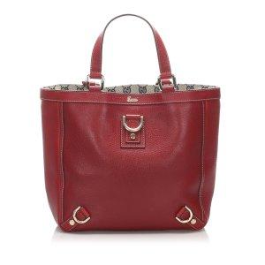 Gucci Bolso de compra rojo Cuero
