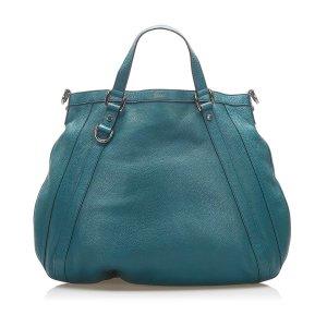 Gucci Satchel dark green leather