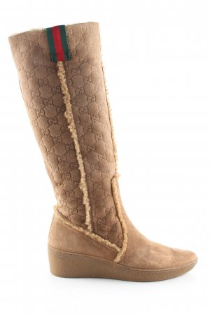 Gucci Absatz Stiefel nude Allover-Druck Casual-Look