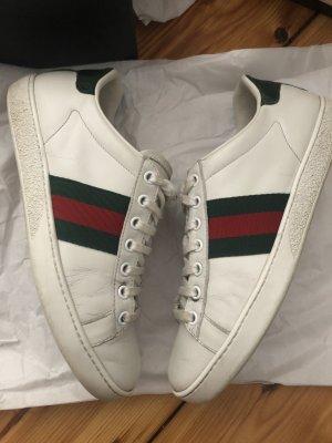 Gucci Ace sneaker Leder Schuhe 36 37 klassisch