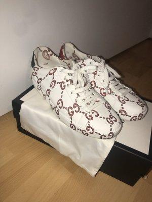 Gucci Sneakers met veters wit-rood