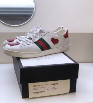 Gucci Ace Sneakers Red Heart