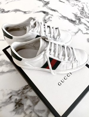 Gucci Sznurowane trampki biały