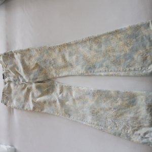 Gucci Pantalon cinq poches blanc cassé-gris vert coton