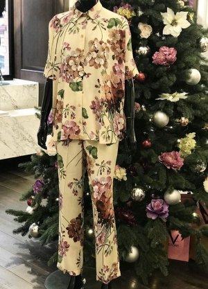 Gucci Pantalón de vestir multicolor Seda