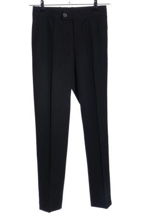 Gucci Pantalon de costume noir motif rayé style d'affaires