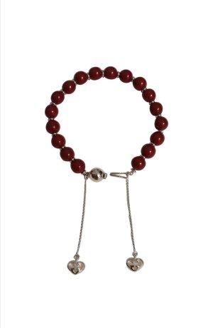 Gucci Silver Bracelet silver-colored-dark red