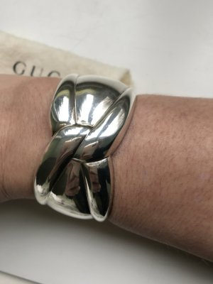 Gucci Silver Bracelet light grey-silver-colored real silver