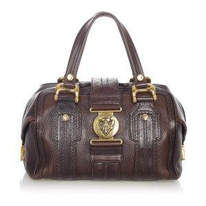 Gucci Aviatrix Leather Boston Bag
