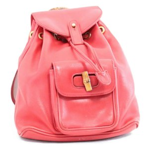 Gucci Backpack red leather